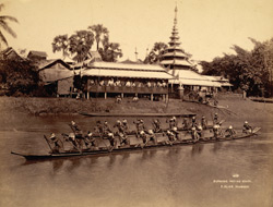 Burmese racing boats [?Rangoon]